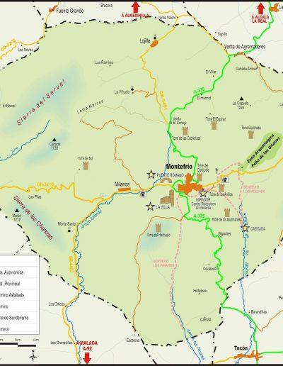 TERMINO MUNICIPAL MONTEFRIO sin casas rurales. (1)